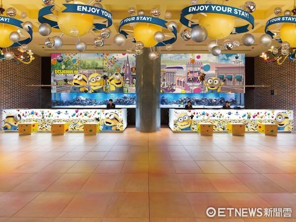 ▲▼日本環球港口飯店全新小小兵大廳設計。(圖/J&T CONTENTS提供)