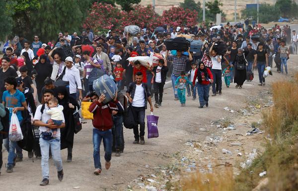 ▲▼敘利亞難民。(圖/路透社)