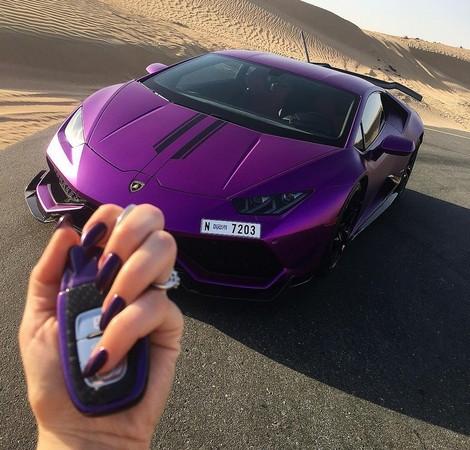▲這下真的「紫爆」!杜拜富女狂改小牛 只為「求關注」(圖/翻攝自RevoZport)