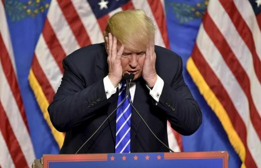 ▲▼ 川普上傳一段自己把CNN打趴的影片,引起眾怒。(圖/路透社)