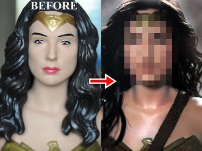神力女超人死魚眼像紙紮 大師重塑公仔變「蓋兒加朵蘋果肌」