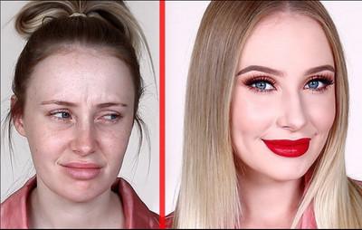 5分鐘換張臉! 魚乾女化妝變超正紅唇姊