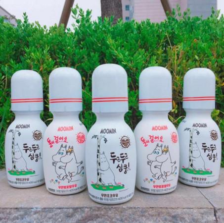 ▲南韓超商嚕嚕米牛奶、米奇壽司(圖/翻攝自moominofficial IG )