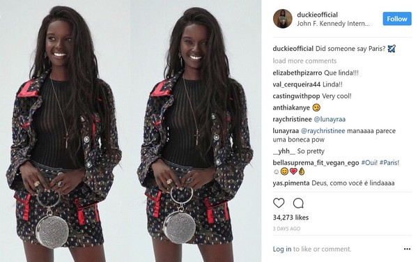 ▲▼ 澳洲南蘇丹裔超模Duckie Thot。(圖/翻攝自Instagram)