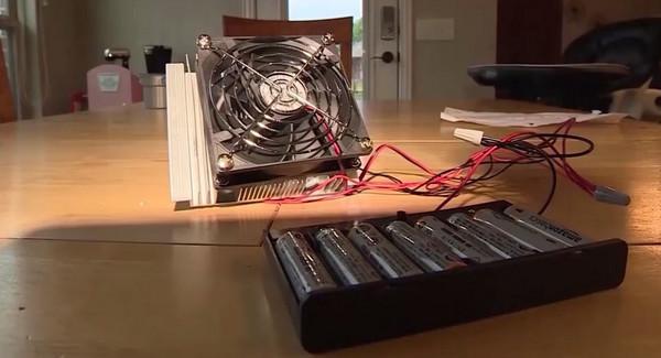 ▲11歲男童發明「散熱器」 就怕又有寵物、小孩熱死車內(圖/翻攝自YouTube)