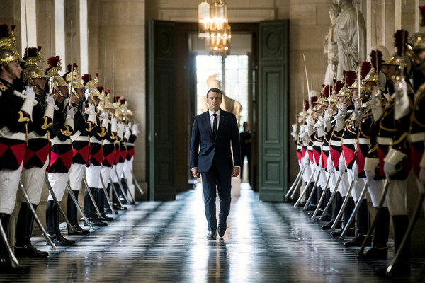 ▲馬克宏在凡爾賽宮召開兩議會,被批是「帝王復辟」。(圖/路透社)