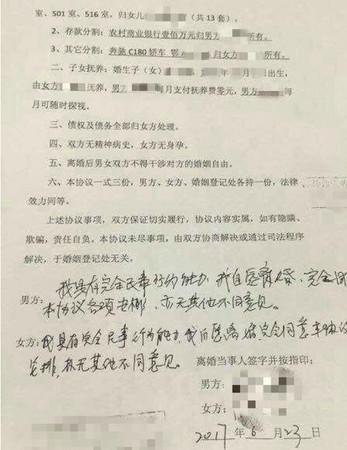 ▲▼「大陸土豪離婚協議書」曝光 63套房要分(圖/翻攝網路)