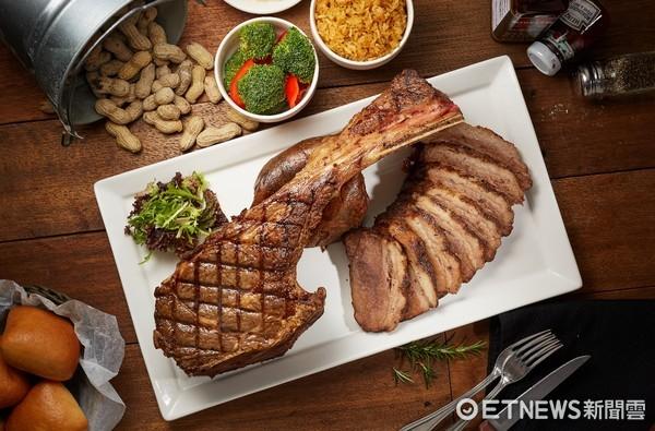 ▲▼ 德州鮮切牛排,德州狂野戰斧餐,(圖/德州鮮切牛排提供)