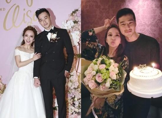 ▲愛紗與周洺甫登記結婚1年多,上月舉辦婚宴。(圖/資料照/記者黃克翔攝、翻攝自愛紗臉書)