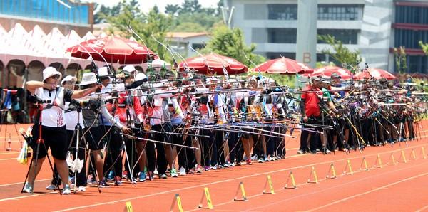 ▲世大運射箭測試賽照片。(圖/世大運籌委會)