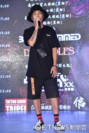 ▲▼嘎嘎出席台北國際紋身藝術音樂祭記者會。(圖/記者李毓康攝)