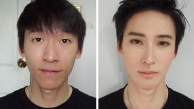 熊貓眼魯宅→韓系王子!10分鐘證明化妝術=妖術無誤