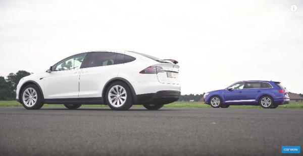 ▲柴油SUV霸主對決最速電動SUV 「它」被海放超精采!(圖/翻攝自YouTube)