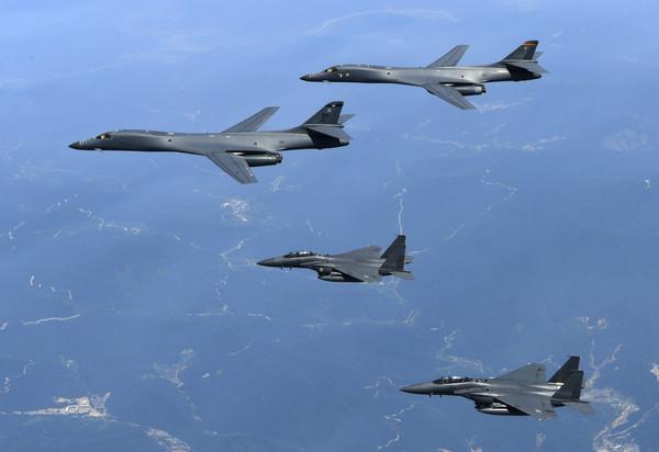 ▲B-1B「槍騎兵」遠距離轟炸機。(圖/達志影像/美聯社)