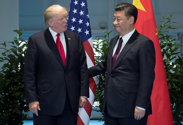 ▲▼美國總統川普和中國國家主席習近平在G20會晤。(圖/路透社)