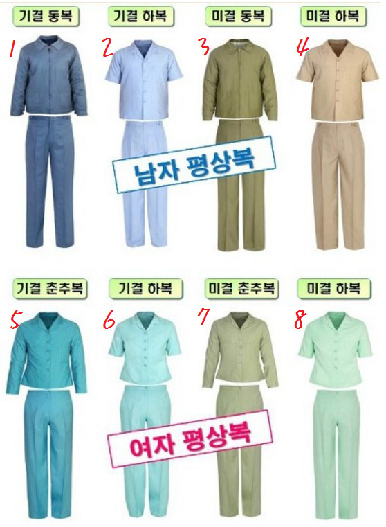 ▲南韓囚服分別。(圖/翻攝自韓網)