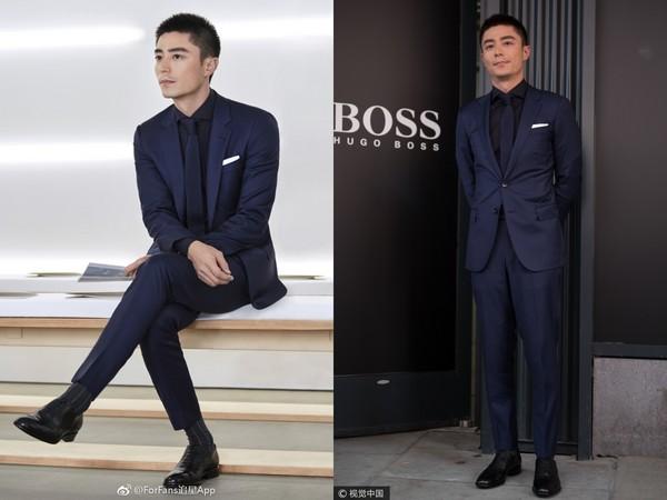 ▲霍建華參加hugo boss 2018春夏男裝周(圖/CFP、翻攝自Forfans追星APP 微博)