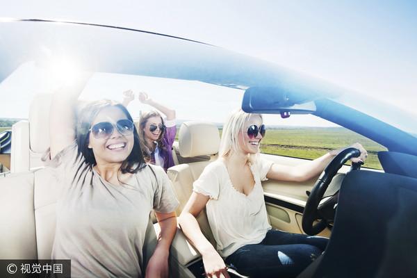 ▲▼開車,女人,道路,駕駛,兜風,三寶。(圖/CFP)