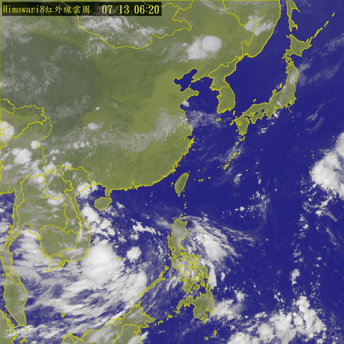 衛星雲圖。(圖/中央氣象局)