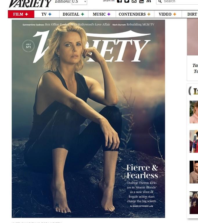 莎莉賽隆(Charlize Theron)。(圖/翻攝自《Variety》)