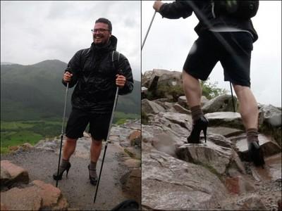 鐵腿少年踩13公分高跟鞋 爬英國最高峰