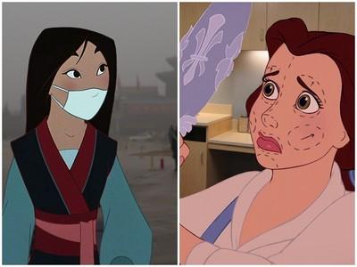 貝兒瘋整形、木蘭受霾害、!迪士尼公主的幕後生活好悽慘
