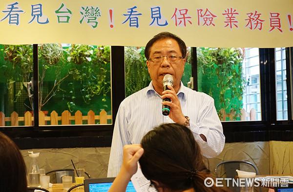中華民國保險業務聯合總工會發起人代表、南山企業工會理事長嚴慶龍。(圖/記者官仲凱攝)