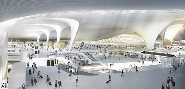 ▲北京新機場示意圖。(圖/zaha-hadid官網)