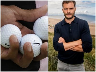巨龍~《格雷》男星褲檔超大包 簡直高爾夫球