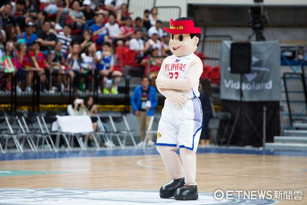 ▲▼瓊斯盃男籃,中華藍對菲律賓,菲律賓吉祥物。(圖/記者季相儒攝)