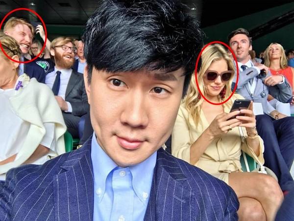 溫布頓網球錦標賽男單,林俊傑。(圖/翻攝自林俊傑臉書)