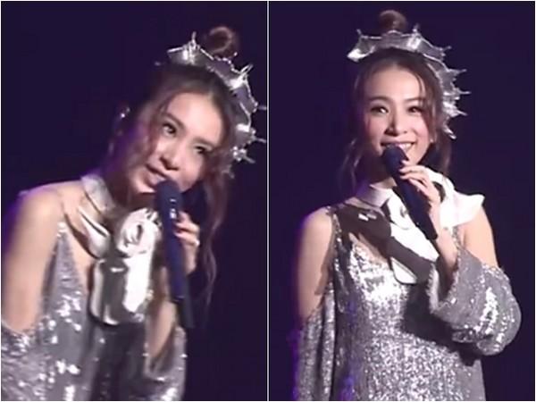 ▲田馥甄上海開唱,跟上流行「還有freestyle嗎」?(圖/翻攝自田馥甄臉書、秒拍/小武sjz)