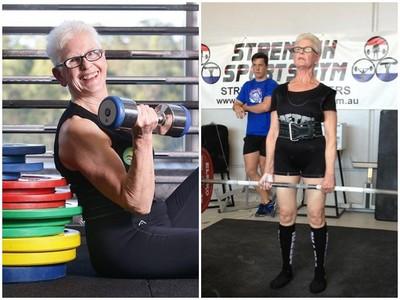 77歲奶奶硬舉90公斤 奪舉重冠軍「今年挑戰100KG」