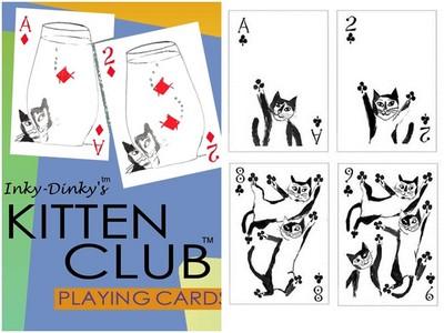 貓咪撲克牌梅花是貓肉球 太有巧思每張牌都像在動