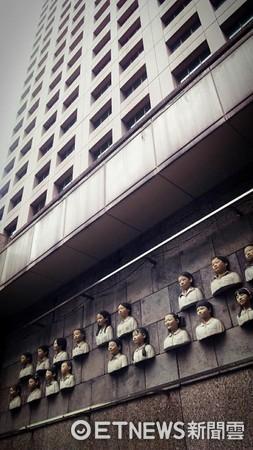 ▲網友在板橋閒置的裝置藝術翻玩後超可怕。(圖/Sanki Liu授權提供)
