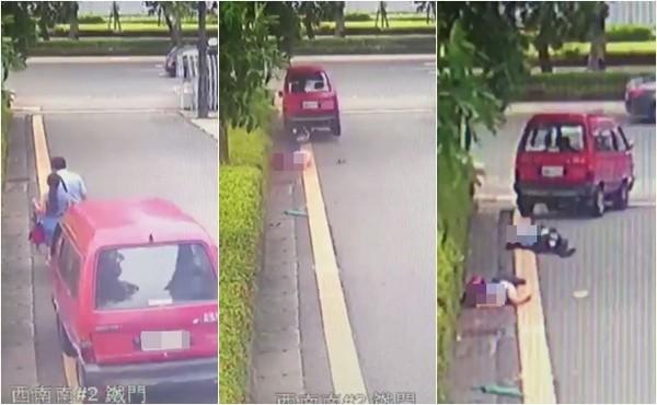 ▲▼台南夫妻到台南地方法院打離婚官司,莽夫駕車撞死律師,妻重傷搶救中。(圖/翻攝畫面)