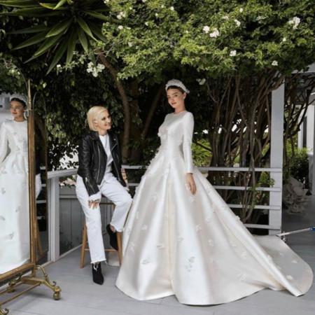 ▲米蘭達再婚嫁千億富豪 Dior定製婚紗靈感摩納哥王妃。(圖/翻攝自mirandakerr IG)