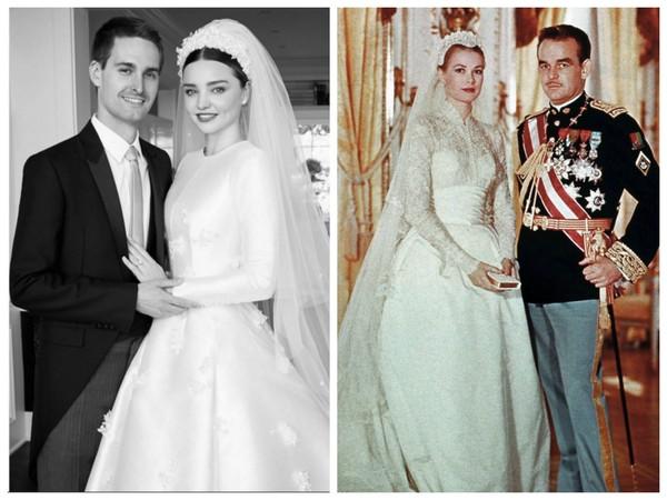 ▲米蘭達再婚嫁千億富豪 Dior定製婚紗靈感摩納哥王妃。(圖/翻攝自mirandakerr IG、取自CFP)