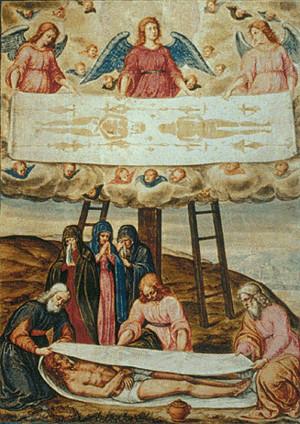 血跡浮現耶穌臉!學者證實「裹屍布死者」遭酷刑虐死 疑神人真跡(翻攝自中世紀畫作/耶穌受難記)