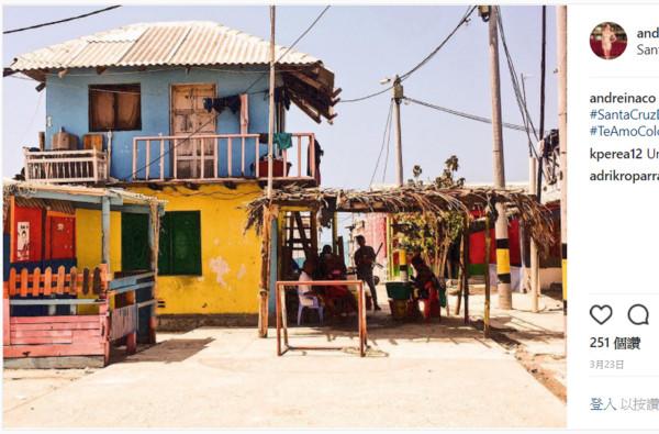 ▲聖克魯斯島(Santa Cruz del Islote)。(圖/取自andreinaco instagram)