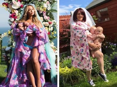 碧昂絲曬雙胞胎美照 惹怒媽媽們仿拍「育兒真相」吐槽