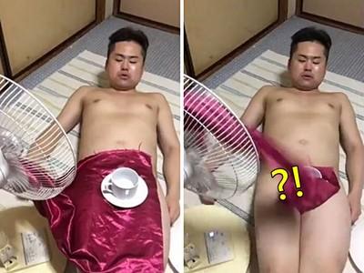 這影片有毒!「裸體抽桌巾」失敗就露鳥,想得到這招腦袋一定有洞