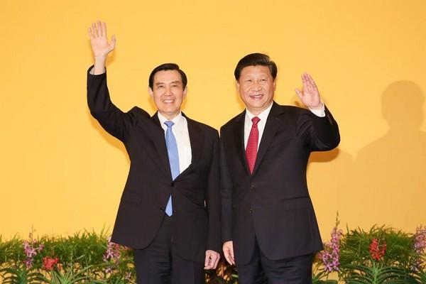 ▲▼前總統馬英九和中國國家主席習近平進行會談。(圖/翻攝自馬英九臉書)