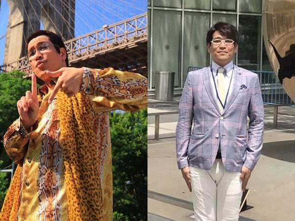 ▲PIKO太郎其實是古坂大魔王的另一個身分,兩個造型反差很大。(圖/翻攝自古坂大魔王推特)