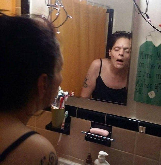 海洛英成癮者勇敢分享「戒毒前後」照:曾經我以為沒救了(圖/翻攝自Melissa Lee Matos臉書)