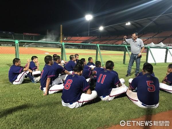 ▲U12中華隊提前適應台南棒球場。(圖/記者楊舒帆攝)