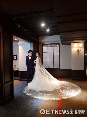 ▲「合陽天擎」接待中心走歐式街道風格,吸引《新娘物語》雜誌前來取景拍攝婚紗主題。(圖/記者葉佳華攝)