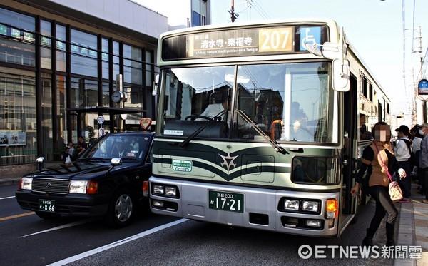 ▲▼京都市公車。(圖/記者蔡玟君攝)