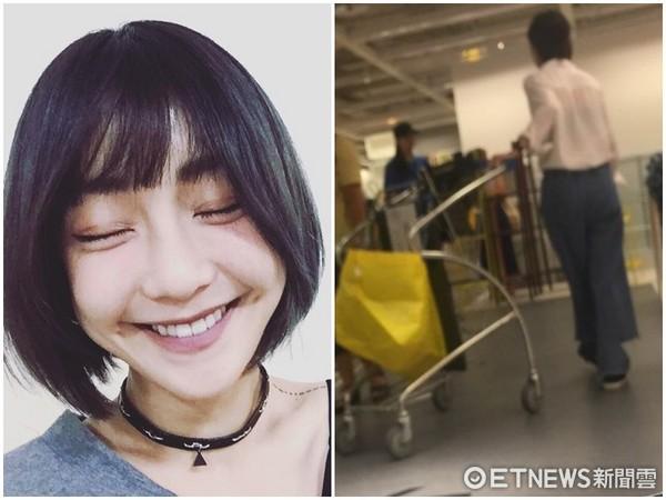 ▲謝欣穎甩7年情傷爆有新男友!逛IKEA被親密摸臉。(圖/讀者提供)