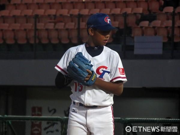 ▲U12中華隊,韓碩恆投打俱佳。(圖/記者楊舒帆攝)